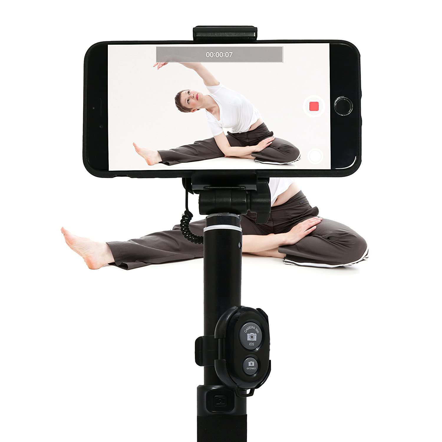innelo Yoga Pose Recorder Black Training Aid Yoga Equipment to Improve and Share Training Results Training Aid Yoga Equipment to Improve and Share Training Results E-S101-B