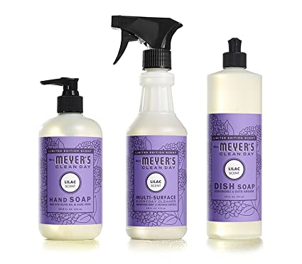 Mrs Meyers Clean Day Limited Edition Lilac Scent Kitchen Basics Set