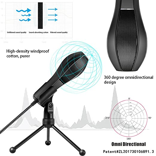Amazon.com: Tecomax Q5B USB Condenser Microphone Professional Studio Podcasting Recording Mic with Tripod for Computer Laptop: Home & Kitchen