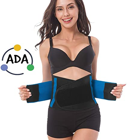 a75978ca3dc ADA Waist Stomach Belt Shaper Fitness Belt Yoga Wrap Hot Belt Unisex Weight  Loss Back Pain