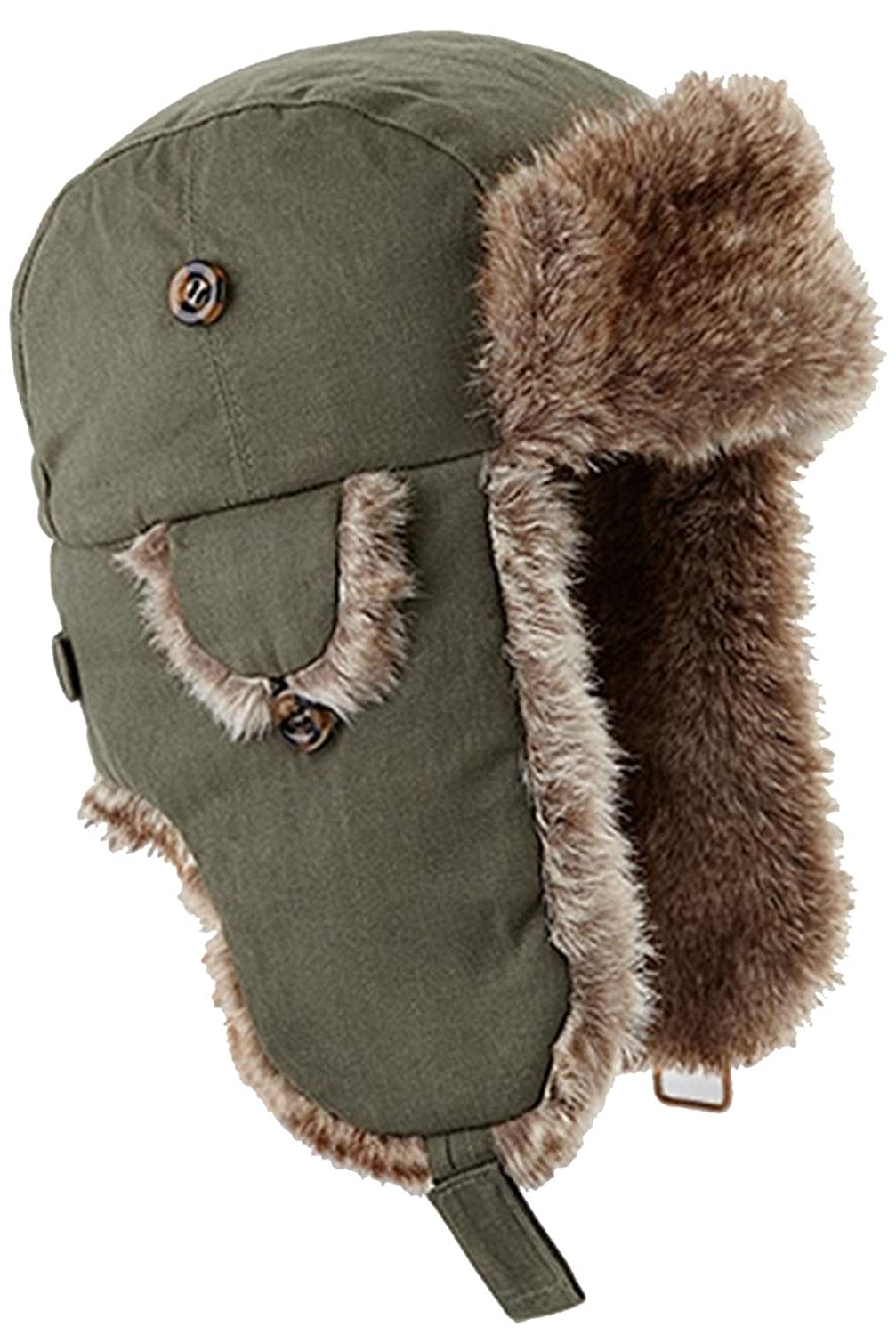591eb66db5d Beechfield Urban Trapper Olive Green S-m  Amazon.co.uk  Clothing