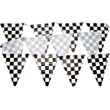 Beistle 50532 Checkered Pennant Banner, 10 by 12-Feet