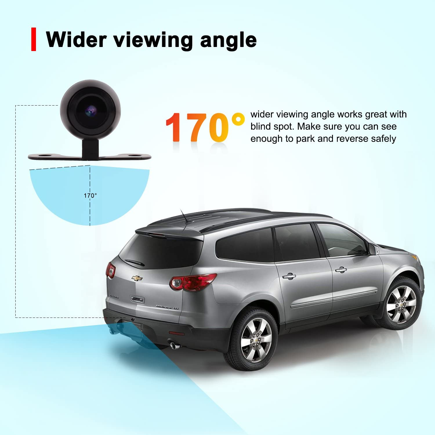 Backup Rear View Universal Mini Car Cameras for Parking Side Front Rear View Night Vision Hidden Spy Camera 170 Degrees Wide View Angle Easy Installation Good Looking 2 Years Warranty Fanco Electronics