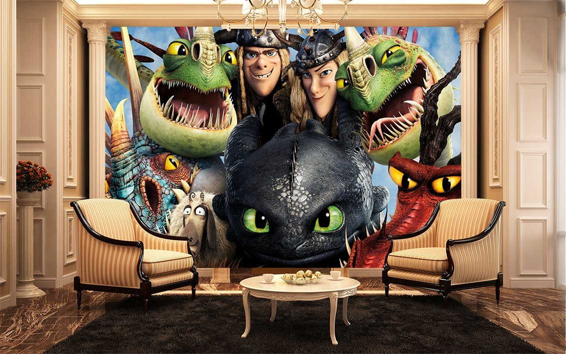 How To Train Your Dragon 2 Dragons Wall Mural , Kids Wall Murals:  Amazon.co.uk: Kitchen U0026 Home Part 62