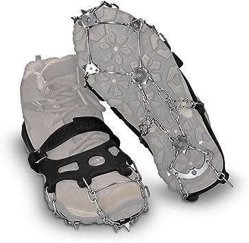 Navaris Crampones de Escalada - Cubiertas Antideslizantes de Metal - Crampones de Botas para Caminar sobre Nieve o Hielo Unisex