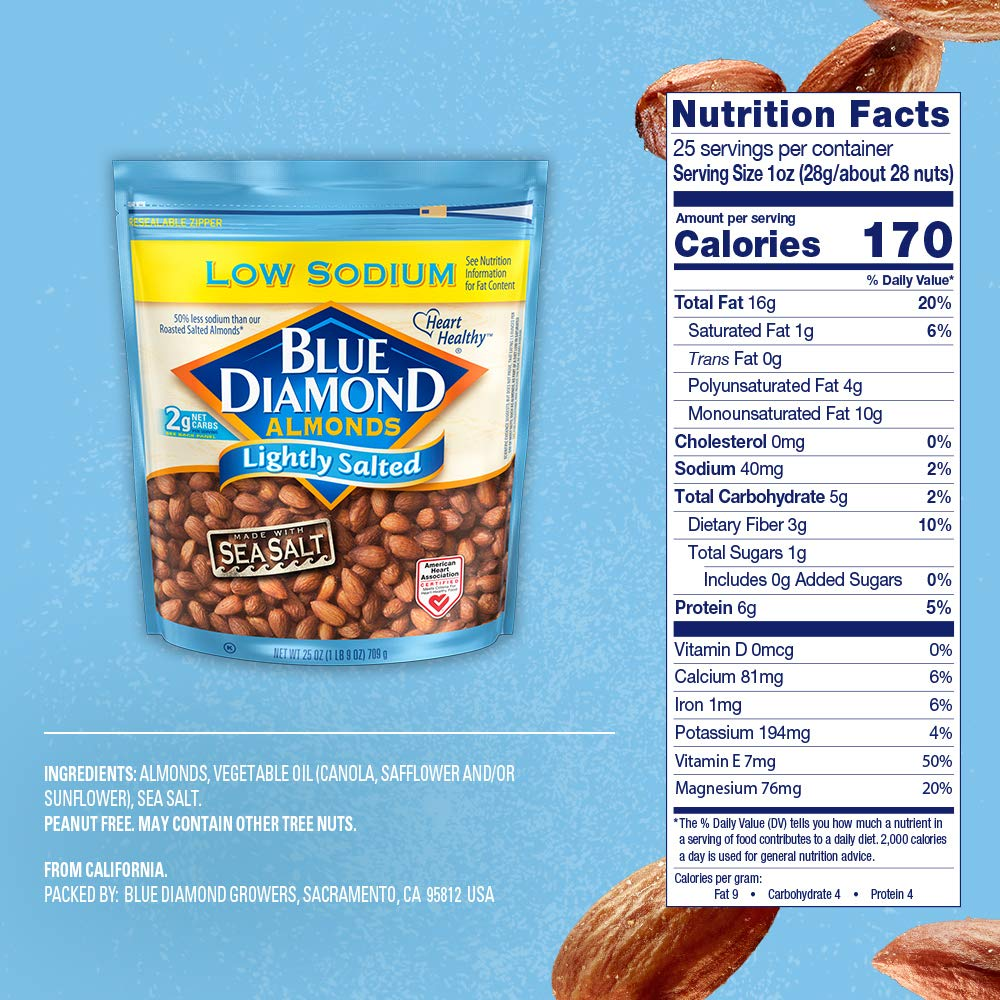 Blue Diamond Almonds, Low Sodium Lightly Salted, 25 Ounce by Blue Diamond Almonds (Image #6)