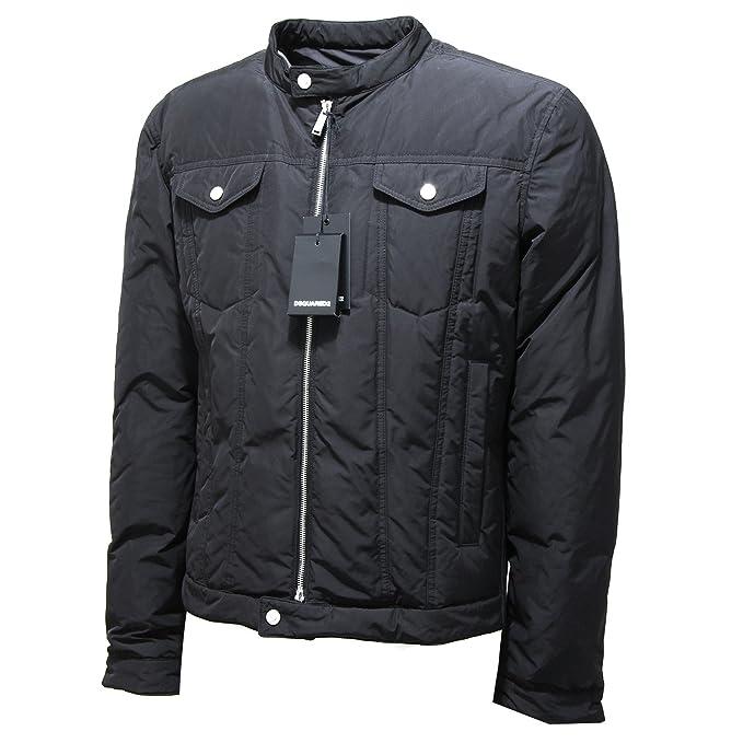 big sale c3d9b 63e2b 4844L piumino uomo nero DSQUARED D2 kaban giubbotti giacche ...