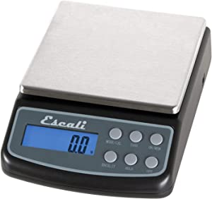 Escali L600 L-Series High Precision Professional Lab Scale, Six Units of Measurements, Capacity 600 Resolution 0.1 Gram, Tare Feature, LCD Dig, Black
