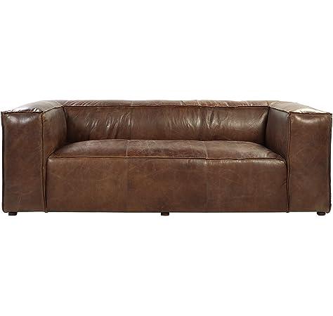 Amazon.com: Moes Home Collection Bolton Sofa, Brown ...