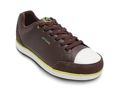 Crocs Men's Karlson Golf Shoe,Espresso/Citrus,US ...