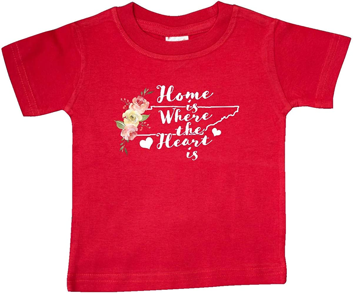 inktastic Tennessee Home is Where The Heart is with Watercolor Baby T-Shirt