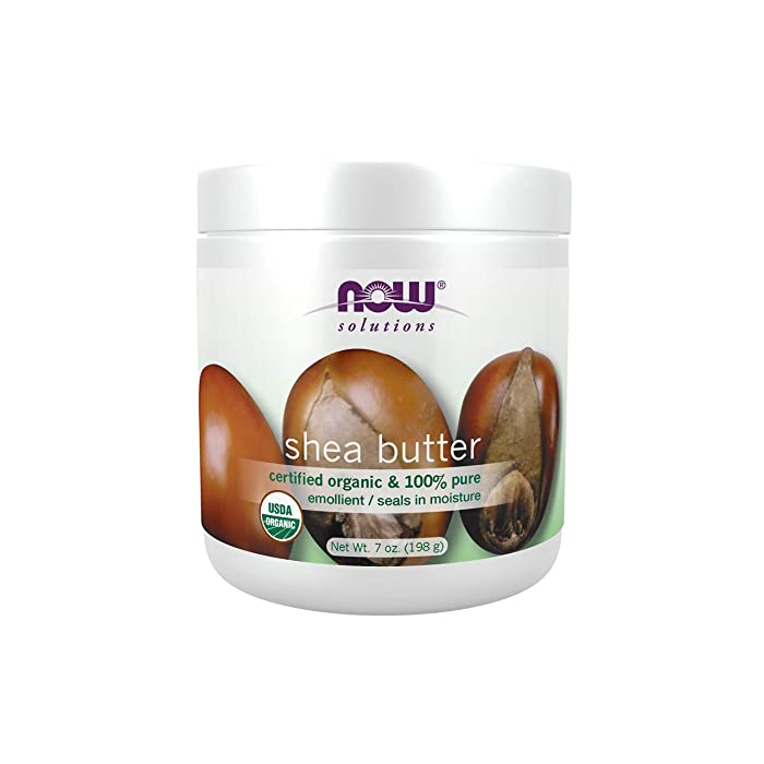 NOW Solutions, Certified Organic Shea Butter, Moisturizer For Rough And Dry Skin, 7-Ounce