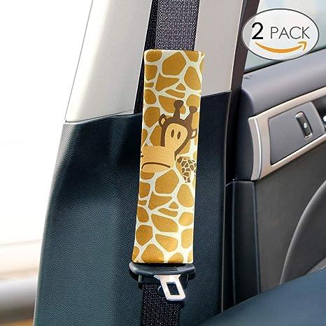 Sundell 2 Pcs Girafe Voiture Ceinture - Auto Sécurité Confort Pads Coussin  Oreiller Coussinets Voyage Protège d48f71be2fe