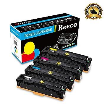 Beeco® Compatible HP 410A CF410A CF412A CF413A CF410A Cartucho de Tóner para HP Pro M452dn M452nw M452dw, MFP M477fdn M477fdw M477fnw Impresoras (4 ...