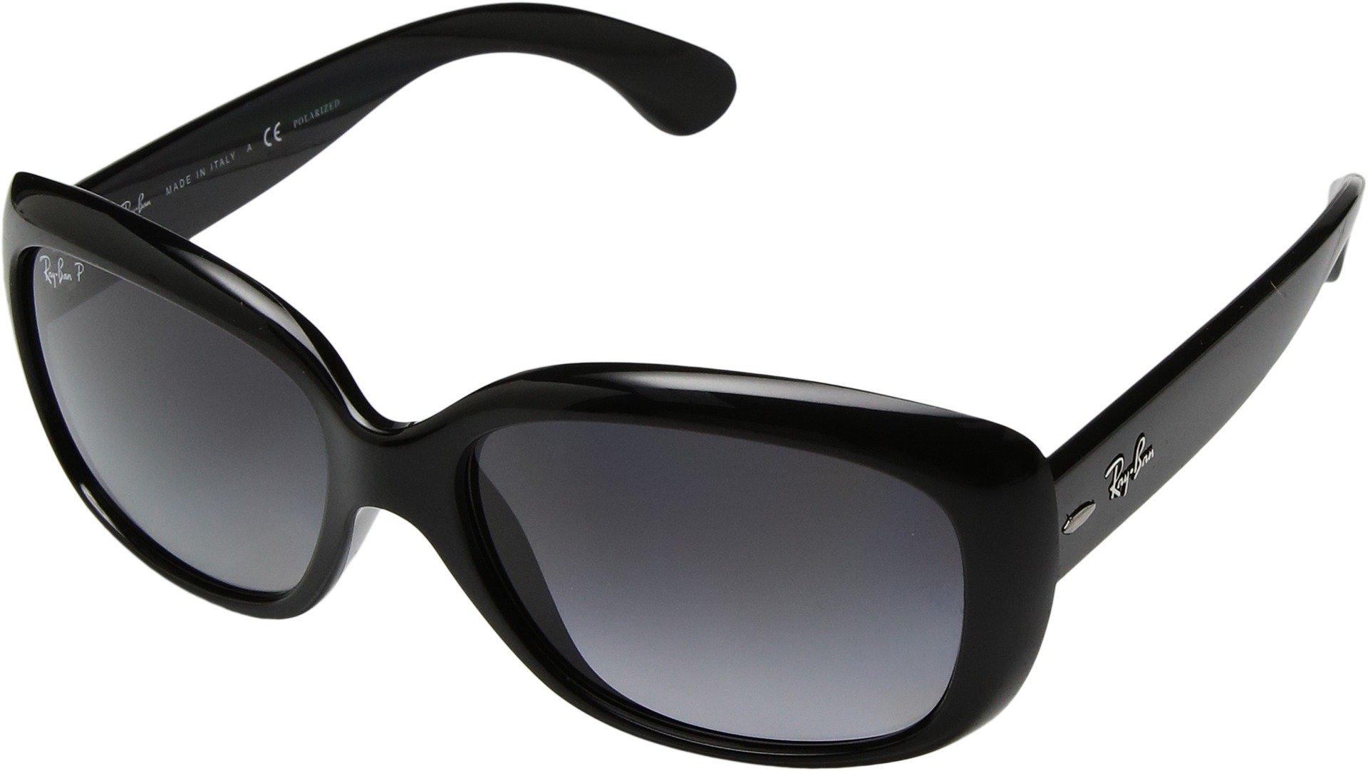 Ray-Ban Womens Sunglasses Black/Grey Plastic - Polarized - 58mm