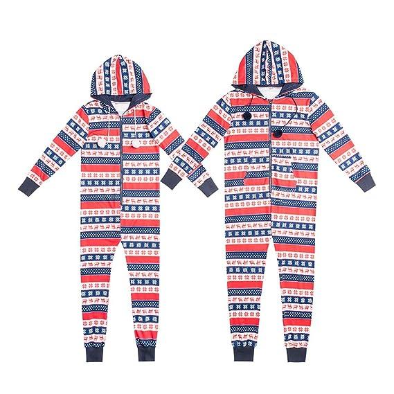 Zhhlinyuan Gracioso Padres e Hijos Encapuchado Conjunto de Pijama Navidad Fiesta Tema Conjunto de Trajes por la Familia: Amazon.es: Ropa y accesorios