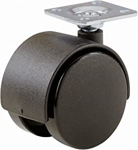 Shepherd Hardware 9417 2-Inch Office Chair Caster, Twin Wheel, 1-1/2-Inch Sq. Plate, 75lb Load Capacity, 2-Pack