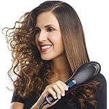 MW Mall India 2 In 1 Ceramic Hair Straightener Brush (Black, RH-Simply-A)