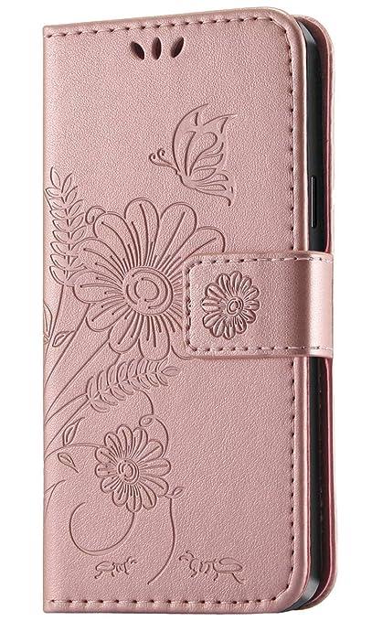 kazineer Hülle für Samsung Galaxy S7 Edge, Handyhülle Leder Tasche Flip Case [Kartenfach] [Faltbarer Ständer] [Abnehmbarer Ha