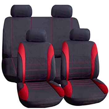 PEUGEOT 3008 FRONT /& REAR CAR FULL SET SEAT COVERS CLOTH BLACK