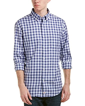 187265d0d3 Vineyard Vines Men's Classic Fit Murray Shirt - Moonshine Edgewater Plaid ( Large, Moonshine) at Amazon Men's Clothing store: