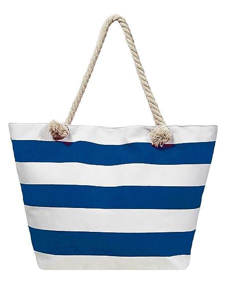 4fb14bb33ed59 Beach Bag Streifen Strand- Sauna- Schwimmbadtasche Blockstreifen in 6  Farben erhältlich Azur