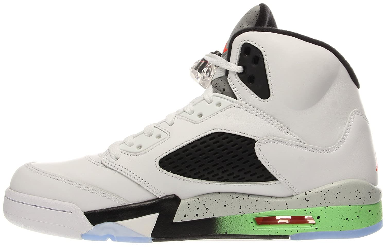 Nike Nike Nike - Air Jordan V Retro - Farbe  Grün-Schwarz-Weiß - Größe  41.0 c46718