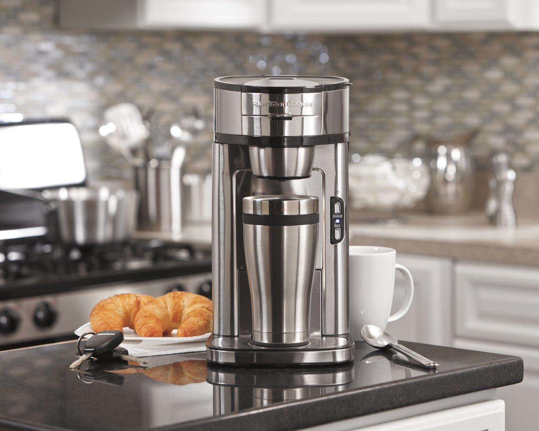Hamilton Beach 49981A Coffee Maker, Single Serve, Silver Renewed