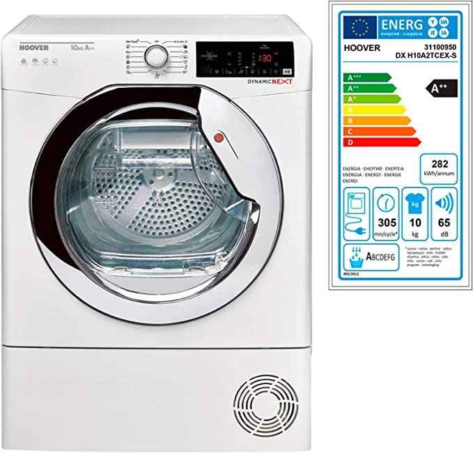 Hoover DX H10A2TCEX-S Independiente Carga frontal 10kg A++ Blanco ...