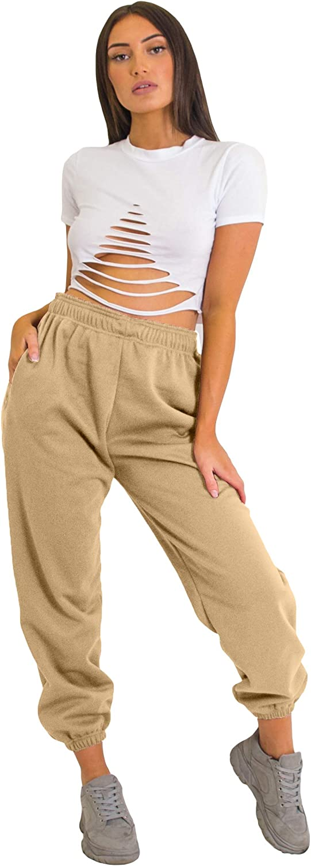2XL Mymixtrendz Femmes Toison Casual surdimensionn/é Jogging Surv/êtement Bas Pantalons Jogger Ladies Taille SM