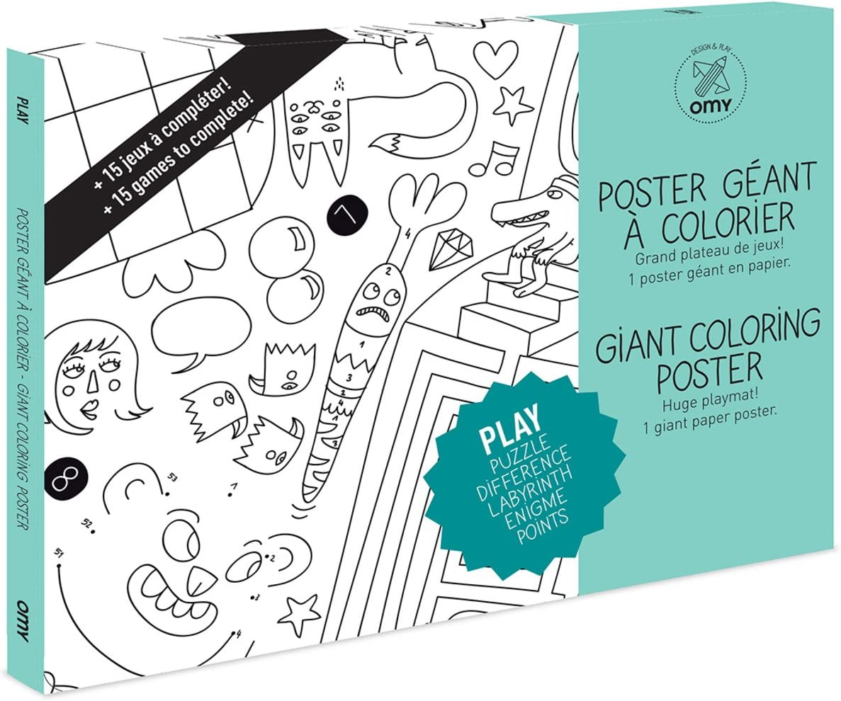Dino OMY Design /& Play Giant Colouring Poster for Kids