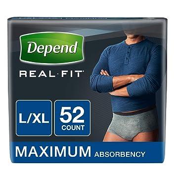 4007da9022c41 Amazon.com  Depend Real Fit Incontinence Underwear for Men