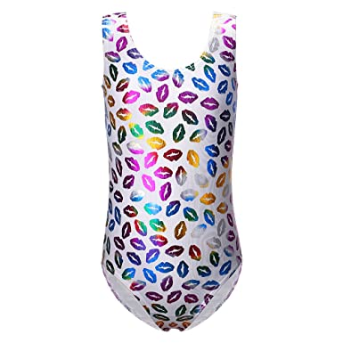 343f40ed6bc4 DAXIANG Gymnastics Leotard Shining Flowers Print Ballet Dance Clothes for  Girl 2-11years
