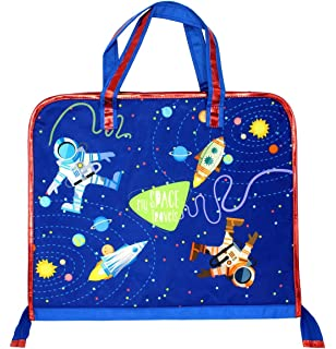 f338d5c2d15 Shopaholic Boy s and Girl s Polyester Attractive Space Travel Featured Drawing  Bag