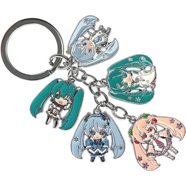 CoolChange Llavero Vocaloid con 5 Figuras Chibi de Miku ...
