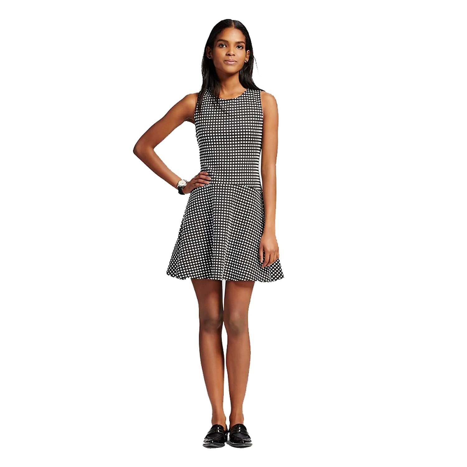 aad9fe20a3fb Shameless Women's Stretch Gingham Cross Back Dress at Amazon Women's  Clothing store:
