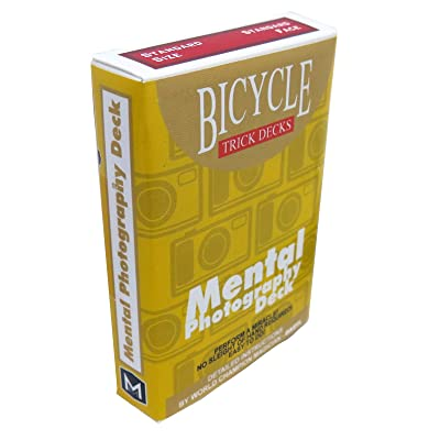 Mental Photo Deck Bicycle Red: Toys & Games
