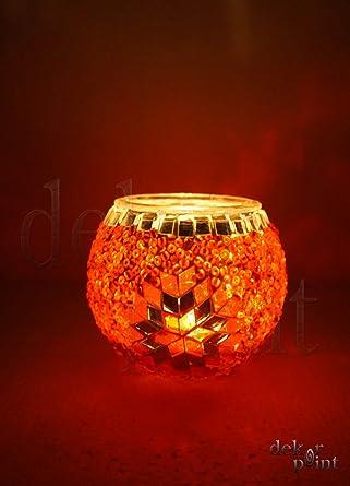 Orientalische Türkische Handgefertigte Mosaik Kerzenhalter Glas Teelichthalter
