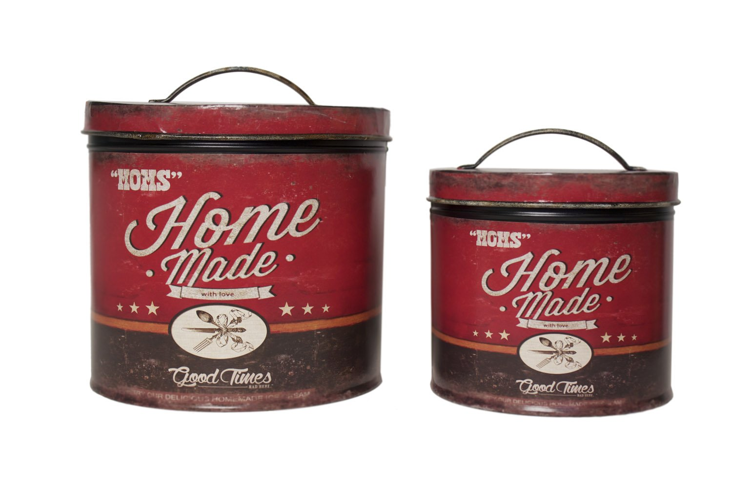 Rustic, Distressed Mom's Home Made Tins ~ Set of 2 audreys