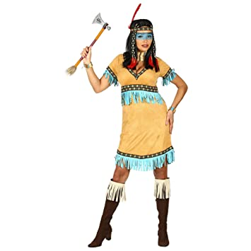 WIDMANN 00291 Disfraz de india para mujer, beige, S: Amazon.es ...