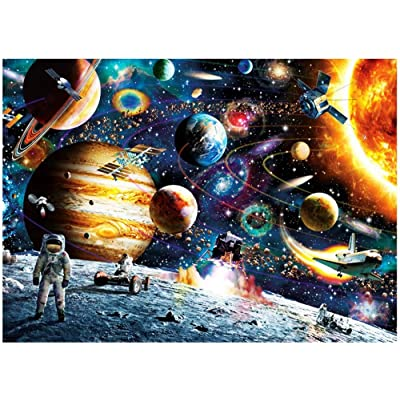1000 PCS Jigsaw Puzzles - Space Travelling, Educational Intellectual Decompressing Fun Game for Kids Adults: Toys & Games