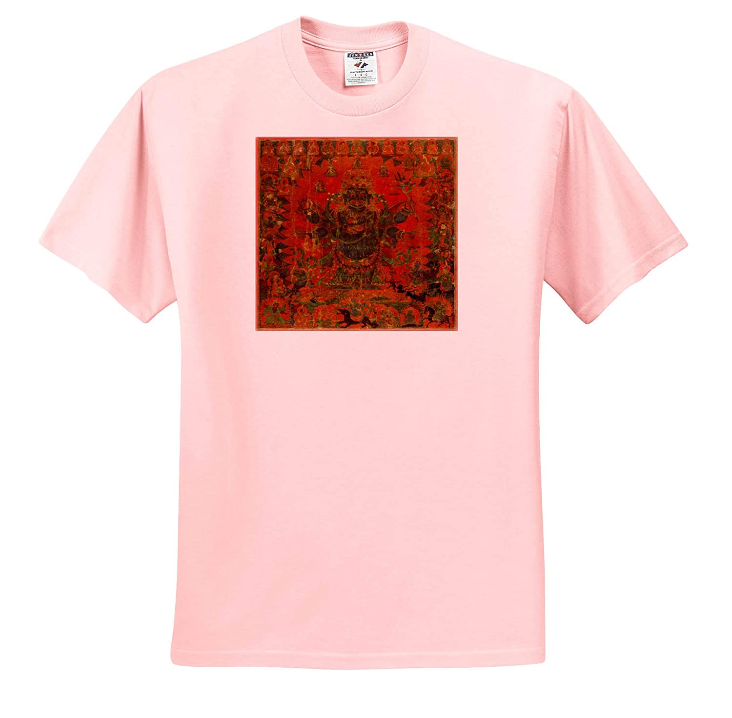 World Tapestries 3dRose Lens Art by Florene Image of Ancient God Like Figure from Tibet Textile T-Shirts