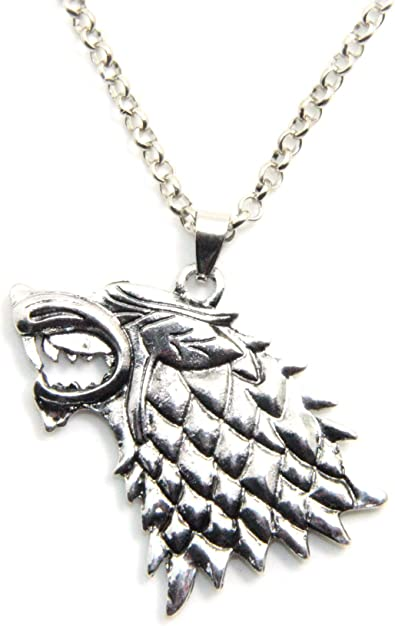 Amazon Com Inspired By Game Of Thrones Song Of Ice And Fire Vintage Stark Dire Wolf Pendant Necklace Jewelry