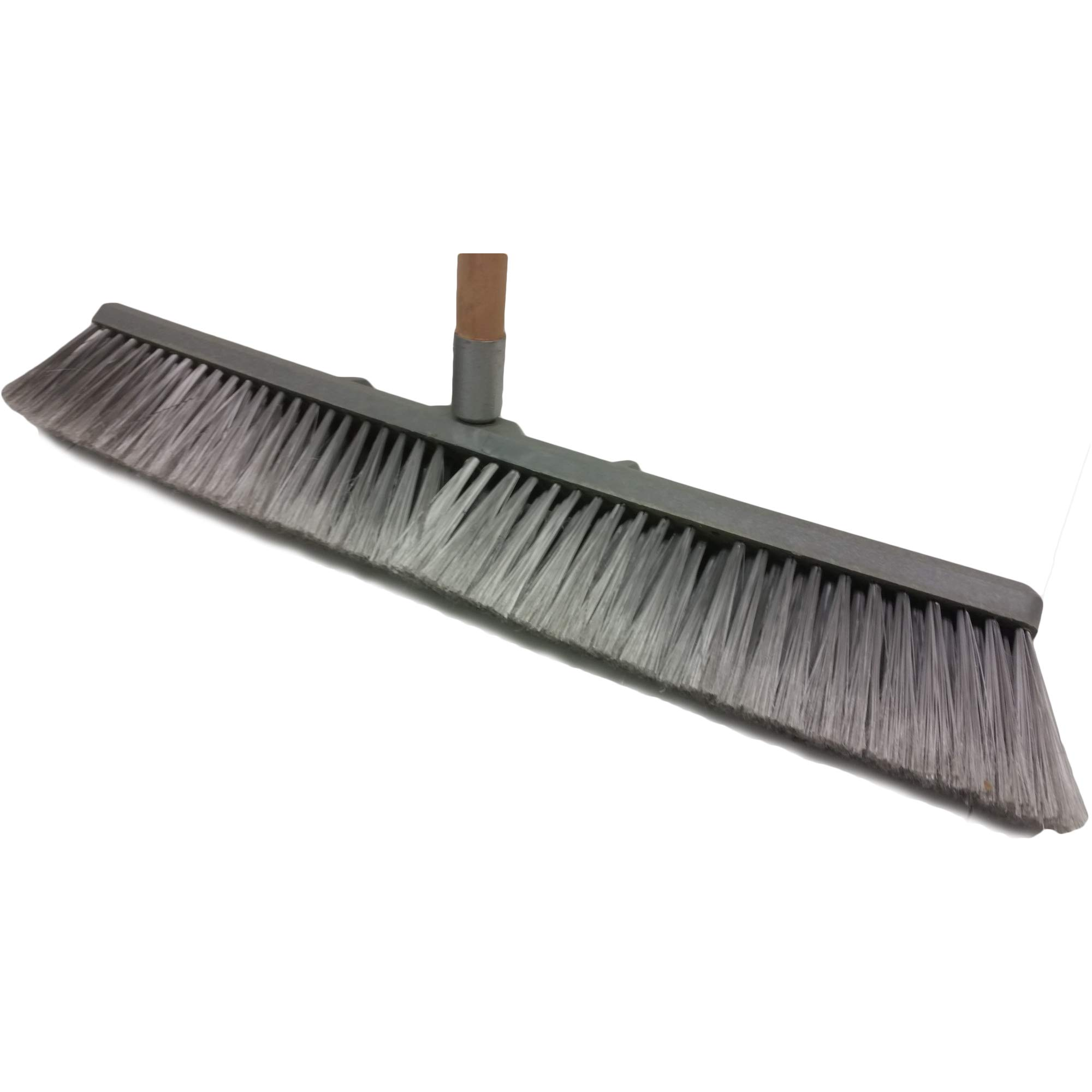 Professional Commercial Multi Surface Heavy Duty Industrial Push Broom Rough Surface Sweeper Brush With Stiff Bristles & Steel Wire Insert Warehouse & Contractors, Lawn & Garden, Indoor&Outdoor (Gray) by Unique Imports (Image #7)