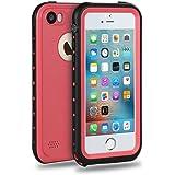 Merit iPhone SE iPhone 5 iPhone 5S 防水ケース 5S 防水ケース アイフォン 5S ケース 防雪 防塵 防埃 耐衝撃 IP68防水レベル (ピンク)