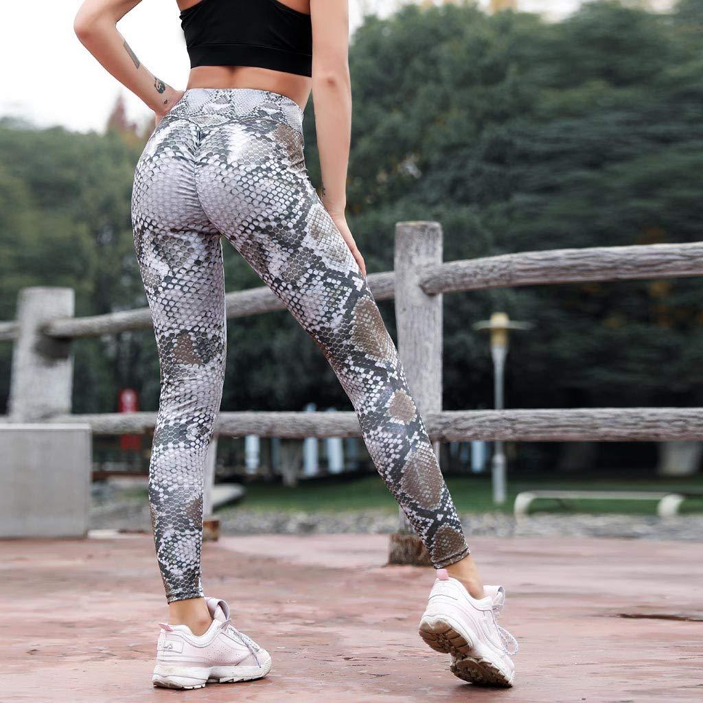 Makeupstory Womens Capri Leggings, Workout Leggings Women,Serpentine High Waist Leggings Serpentine Women Yoga Pants Mesh Leather Leggins by Makeupstory (Image #3)