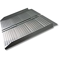 WilTec Rampa Silla Ruedas Plegable 150cm 270kg Aluminio