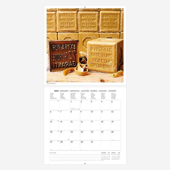 "motivo /""Provenza/"" Calendario da parete 2020 30/x 29/cm"