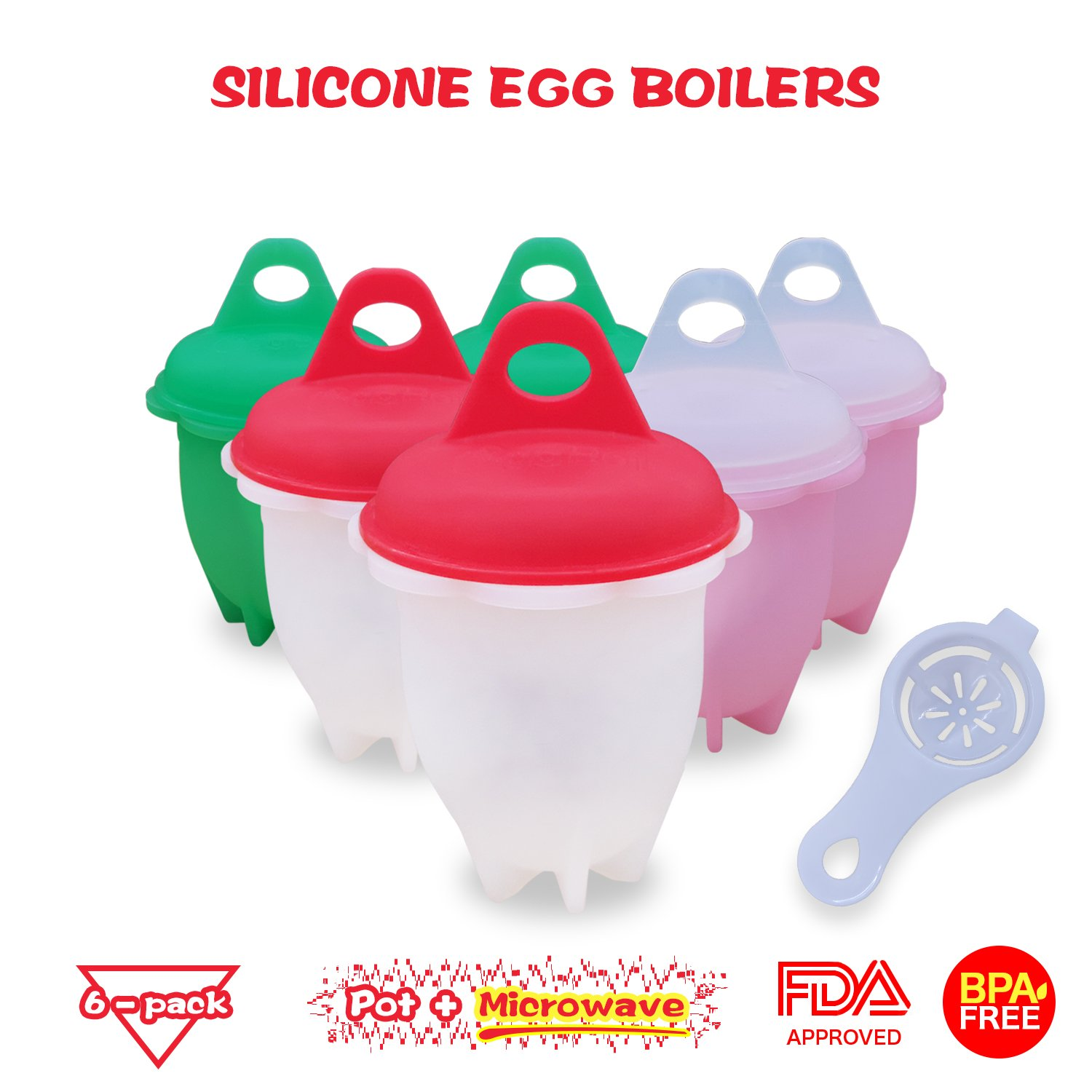Food-Grade Non Stick Silicone Egg Cooker | BPA Free Egg Boiler | Egg Poacher Without Shell | High Temperature Resistant Egg Boil Cup For All Pots & Microwave