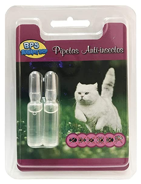 BPS Pipetas Repelentes para Perros Gatos Mascotas Antiparasitos Material Naturales (para Gato) BPS-